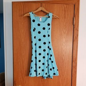 Justice Dresses - Justice Blue Polka Dot Dress Sz 16